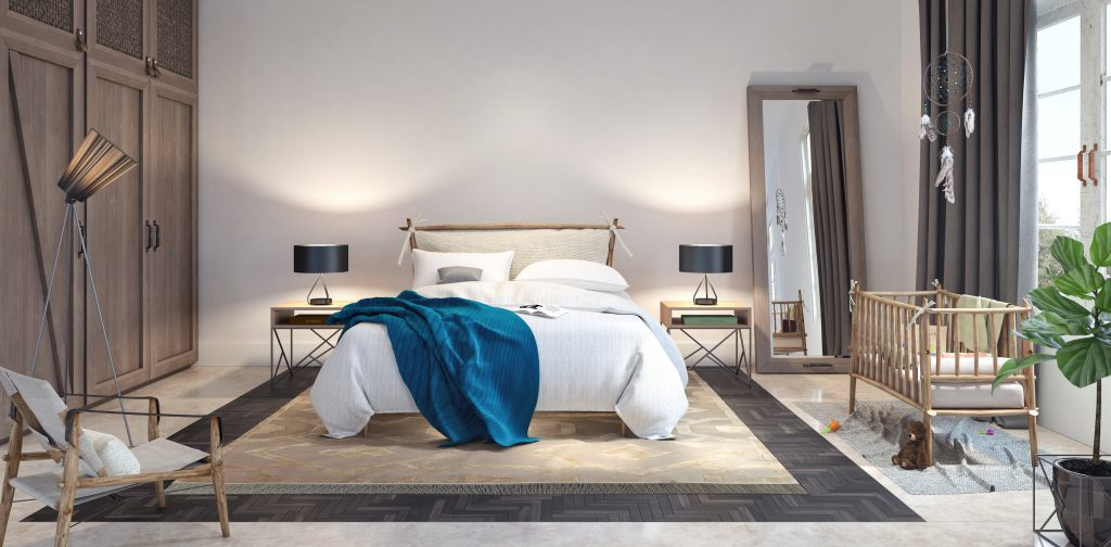 funktionel indretning af sovevaerelse